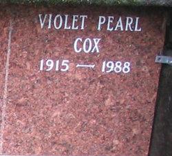 Violet Pearl <i>Nugent</i> Cox