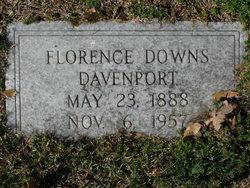 Florence <i>Downs</i> Davenport
