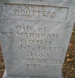 Nannie W. <i>Wootters</i> Markham