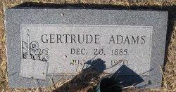 Martha Gertrude <i>Cox</i> Adams