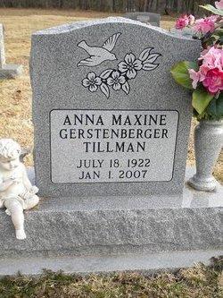 Anna Maxine <i>Gerstenberger</i> Tillman