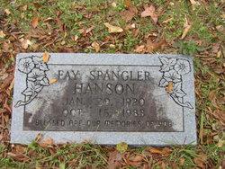 Fay <i>Spangler</i> Hanson