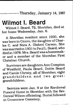 Wilmot I <i>Carson</i> Beard