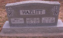 Mary Hazlitt