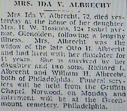 Ida V Albrecht