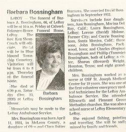 Barbara <i>Burrows</i> Bossingham