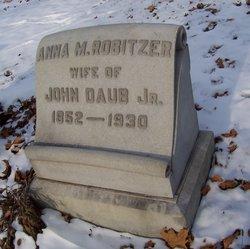 Anna Margaret <i>Robitzer</i> Daub