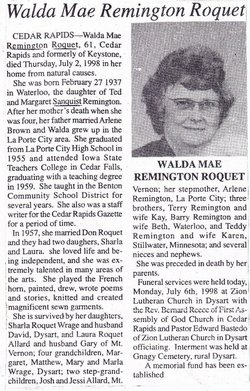 Walda Mae <i>Remington</i> Roquet