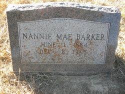 Nannie Mae <i>Meek</i> Barker