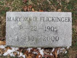 Mary <i>Kohr</i> Flickinger