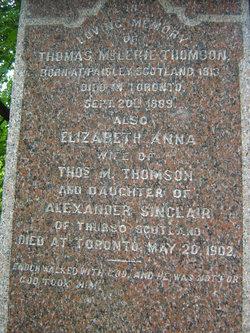 Elizabeth <i>Sinclair</i> Thomson
