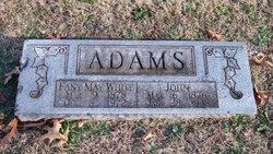 Fanny May <i>White</i> Adams
