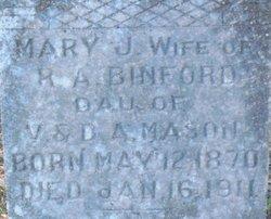 Mary J. <i>Mason</i> Binford