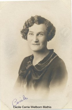 Cecile Carrie <i>Wellborn</i> Mathis
