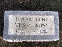 Dora Pearl Wilson <i>Hunt</i> Brown