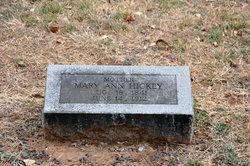 Mary Ann <i>Washburn</i> Hickey