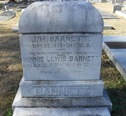 Minnie <i>Lewis</i> Barnett