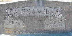 Willard V Alexander
