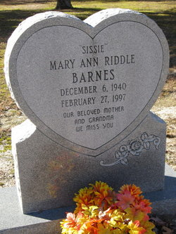 Mary Ann <i>Riddle</i> Barnes