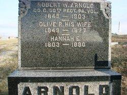Hannah E <i>Wooster</i> Arnold
