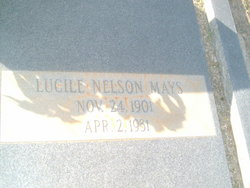 Fannie Lucile <i>Nelson</i> Mays