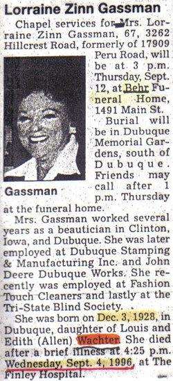 Lorraine <i>Wachter</i> Gassman