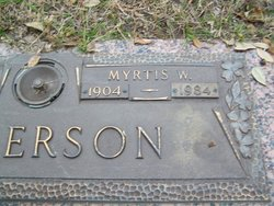 Myrtis W Anderson