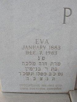 Eva <i>Veinstein</i> Pitler