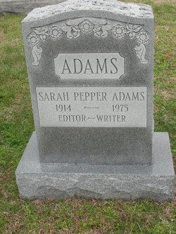 Sarah <i>Pepper</i> Adams