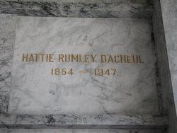 Hattie <i>Rumley</i> D'Acheul