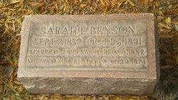 Sarah E <i>Benson</i> Beatty