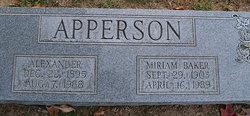 Miriam <i>Baker</i> Apperson