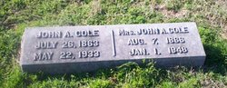 Majie Josephine <i>Crawford</i> Cole