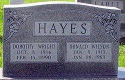Mrs Dorothy <i>Wright</i> Hayes