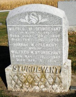 Hannah M <i>Clement</i> Sturdevant