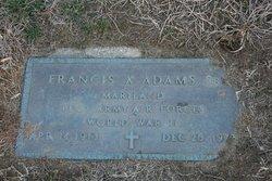 Francis Xavier Frank Adams, Sr