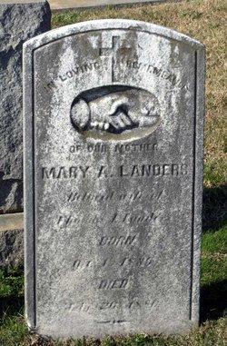 Mary A. <i>Diggs</i> Landers