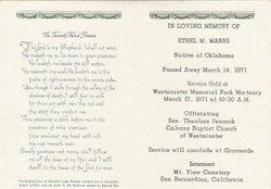 Mrs Ethel Mae <i>Bell</i> Marrs