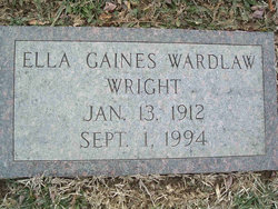 Ella Gaines <i>Wardlaw</i> Wright