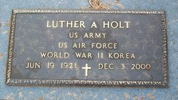 Luther A Holt