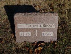 Ann <i>Caldwell</i> Brown