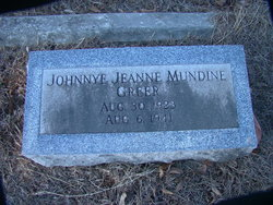 Johnnye Jeanne <i>Mundine</i> Greer
