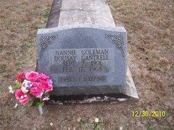 Nancy Nannie <i>Golemon</i> Dousay Cantrell