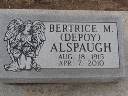 Bertrice M <i>DePoy</i> Alspaugh
