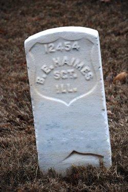 Sgt Barnett E. Haimes (Haines)
