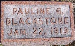 Pauline G Blackstone
