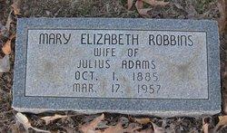 Mary Elizabeth <i>Robbins</i> Adams