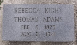 Rebecca Kight <i>Thomas</i> Adams