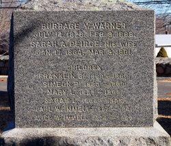 Sarah A <i>Peirce</i> Warner