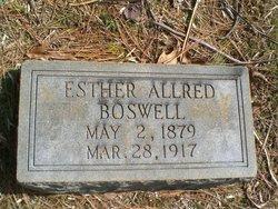 Esther <i>Allred</i> Boswell
